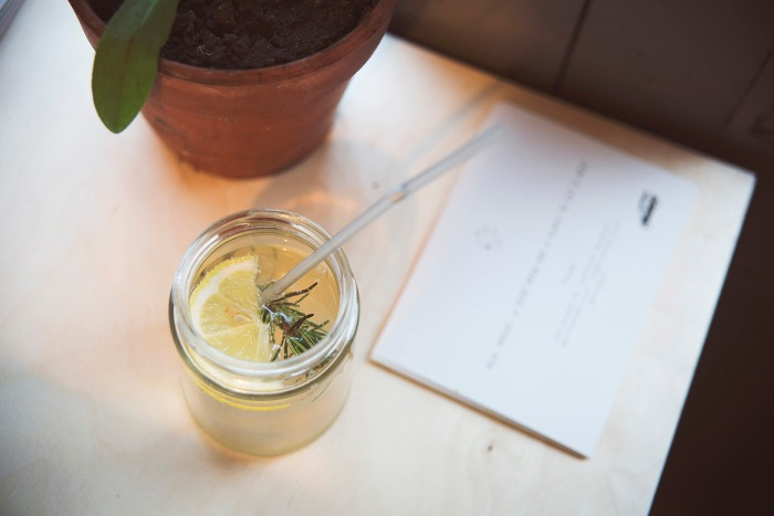 Rosemary, graperfuit, Prosecco