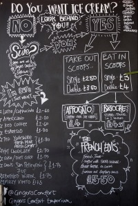 The Ginger's shop menu